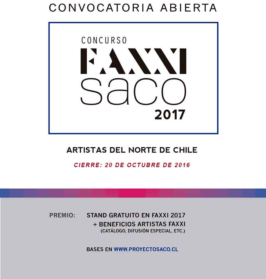 HASTA EL 20 DE OCTUBRE SE EXTIENDE LA CONVOCATORIA PARA LA FERIA DE ARTE FAXXI 2017
