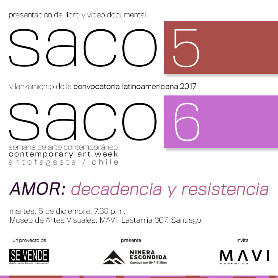 EN MAVI COLECTIVO SE VENDE PRESENTARÁ LIBRO Y DOCUMENTAL DE SACO5 JUNTO AL LANZAMIENTO DE LA CONVOCATORIA DE SACO6