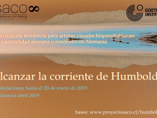 """Convocatoria Residencia  """"Alcanzar la corriente de Humboldt"""""""